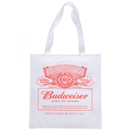 Budweiser King of Beers Label Logo Tote Bag