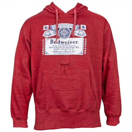 Budweiser Red Beer Pouch Hoodie