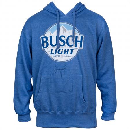 Busch Light Blue Beer Pouch Hoodie