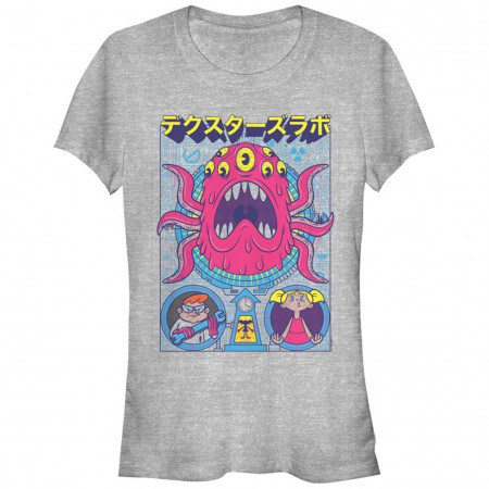 Dexter's Lab Tentacles Poster Chogrin Gray T-Shirt