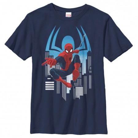 Spider-Man Web Slinger Youth Blue T-Shirt