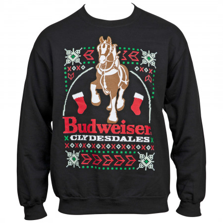 Budweiser Clydesdales Ugly Sweater Long Sleeve Shirt