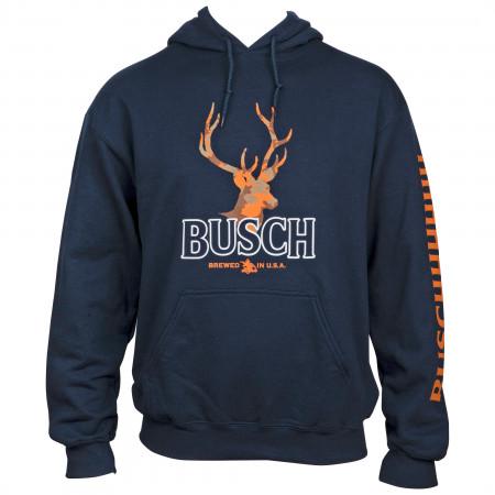 Busch Orange Hunter Camo Deer Hoodie