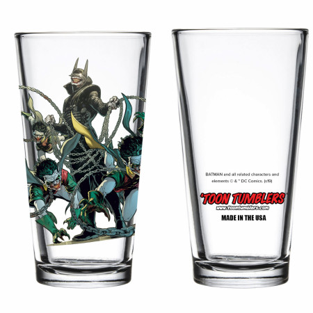 Dark Nights: Metal The Batman Who Laughs with Robin Minions Pint Glass