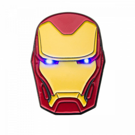 Iron Man Helmet Light Up Pin