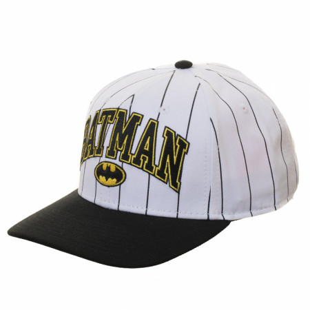 Batman Pinstripe Pre-Curved Adjustable Snapback Hat