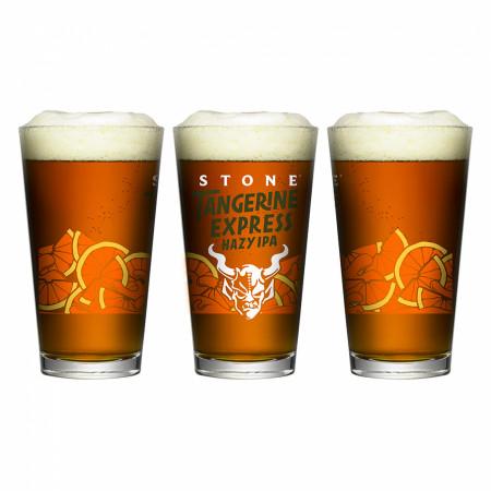 Stone Tangerine Express Hazy IPA Pint Glass