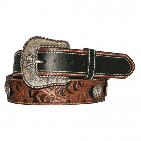 Jack Daniels Two Tone Silver Plated Belt
