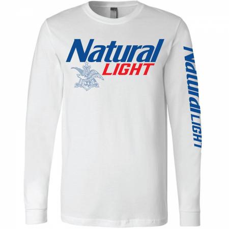 Natural Light Sleeve Print Long Sleeve Shirt