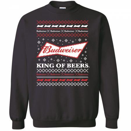 Budweiser Bowtie Logo Ugly Christmas Sweater