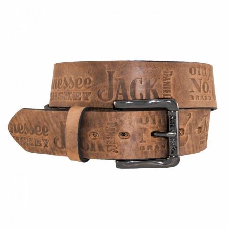 Jack Daniel's Brown Leather Embossed 1.5' Belt