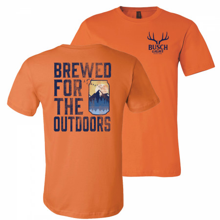 Busch Light Beer Brewed For The Outdoors Front and Back Print T-Shirt