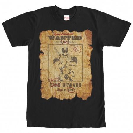 Deadpool Wanted Black T-Shirt