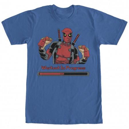 Deadpool Progress Blue T-Shirt