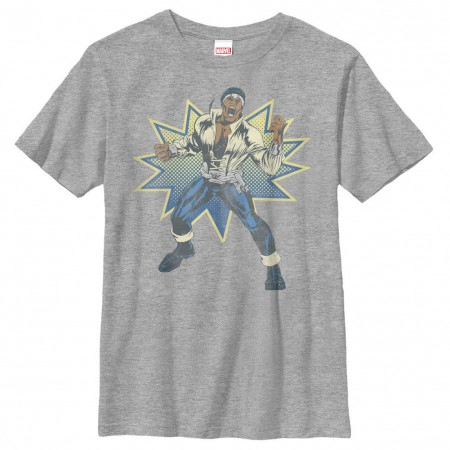 Marvel Teams Power Man Gray Youth T-Shirt