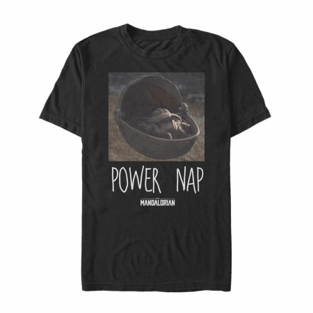 The Mandalorian Power Nap The Child Black T-Shirt