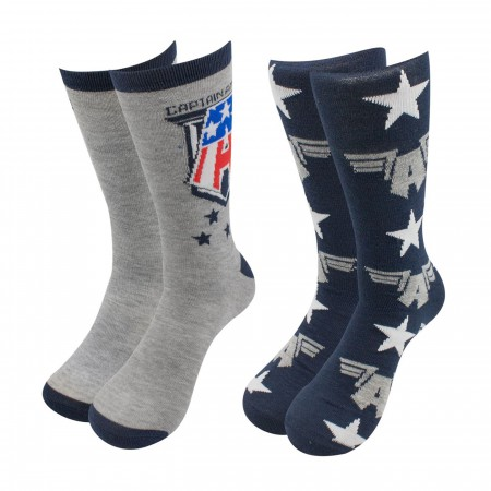 Captain America sock 2-pack