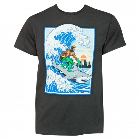 Aquaman Shark Surfing Men's T-Shirt
