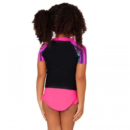 BatGirl Rainbow Rash Guard Top