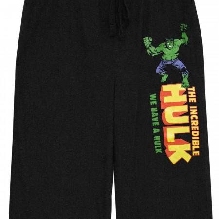 Incredible HULK Black Unisex Sleep Pants
