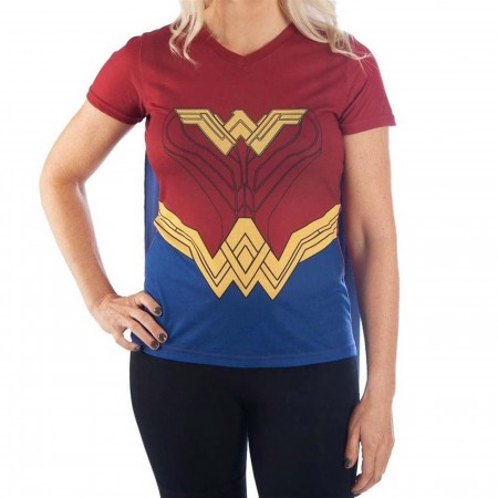 Wonder Woman Caped Costume Women's T-Shirt