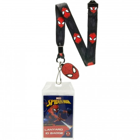 Spider-Man Lanyard with Badge And Rubber Charm