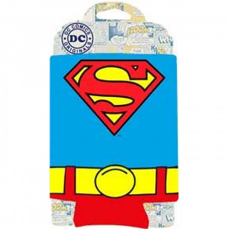 Superman Uniform Can Cooler