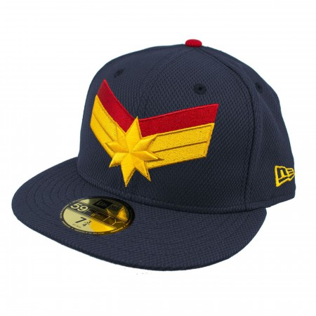 Captain Marvel Navy Scarlet New Era 5950 Fitted Hat