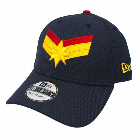 Captain Marvel Navy Scarlet New Era 3930 Flex Fit Hat