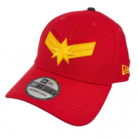 Captain Marvel Scarlet Red New Era 3930 Flex Fit Hat
