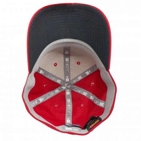 Captain Marvel Scarlet Red New Era 39Thirty Flex Fit Hat