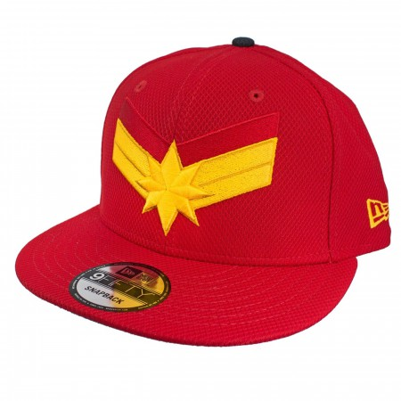 Captain Marvel Scarlet Red New Era 950 Adjustable Hat