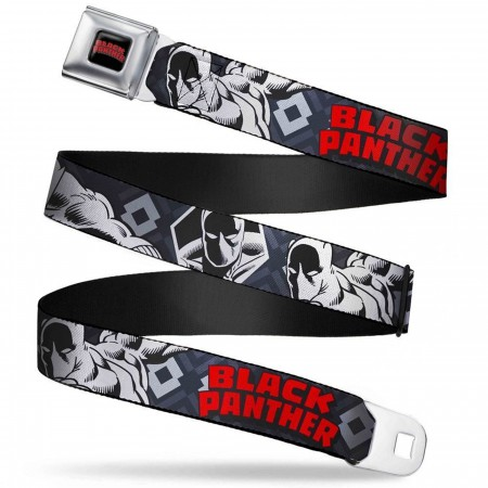 Black Panther Title Logo Seatbelt Belt