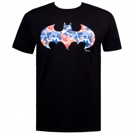 Batman Floral Camo Symbol Men's T-Shirt