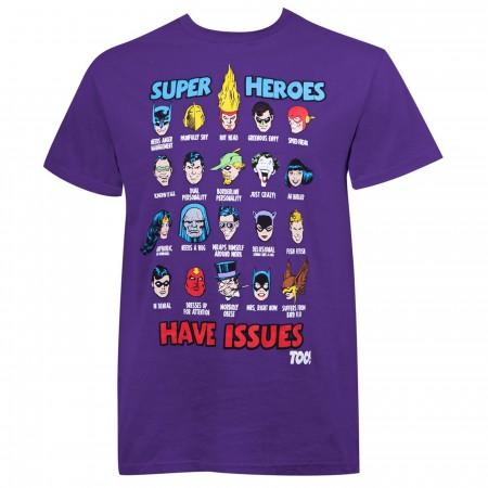DC Comics Superheroes Have Issues Men's T-Shirt