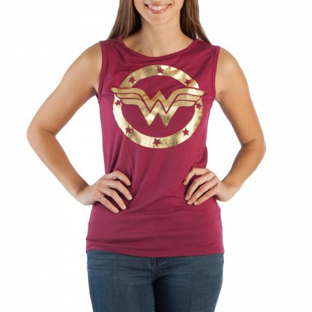 Wonder Woman Gold Foil Symbol Women's T-Shirt