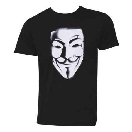 V for Vendetta Mask Men's T-Shirt