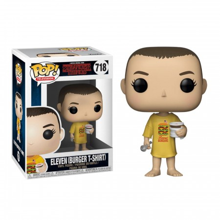 Stranger Things Eleven in Burger T-Shirt Bobblehead