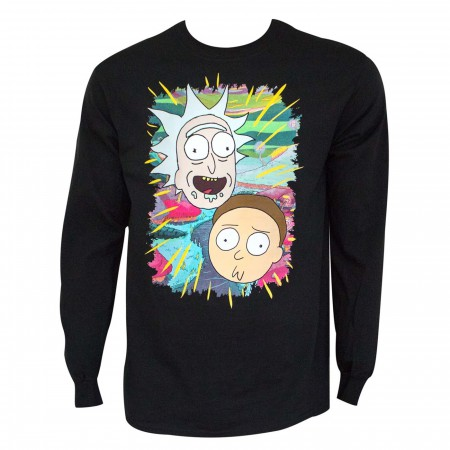 Rick and Morty Portraits Long Sleeve Shirt