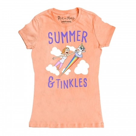 Rick and Morty Summer and Tinkles Womens Tshirt