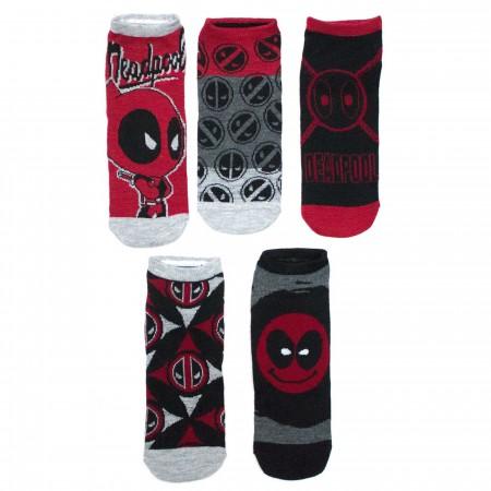 Deadpool Women's 5 Pair Low Cut Socks