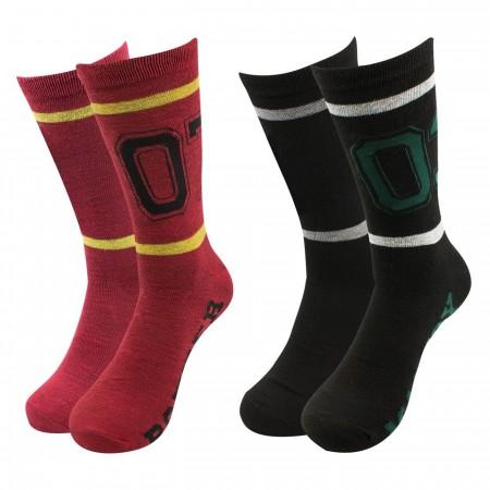 Harry Potter Team Jersey 2-pack Crew Socks