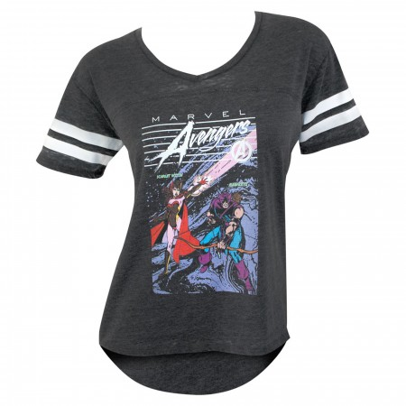 Avengers Scarlet Witch and Hawkeye Women's Jersey T-Shirt
