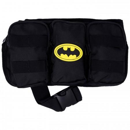 Batman Rubber Mold Logo Fanny Pack Belt Bag