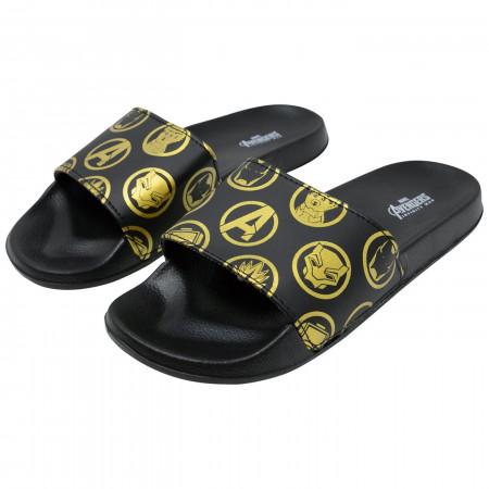 Avengers Endgame Symbols Slippers