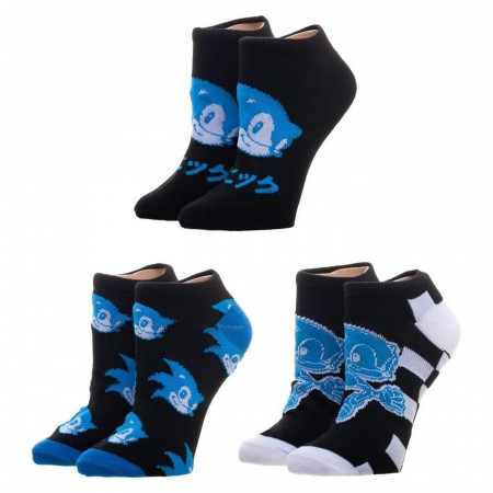 Sonic the Hedgehog Three Pack Ankle Socks