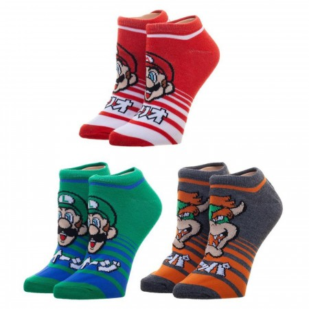 Nintendo Super Mario Three Pack Ankle Socks