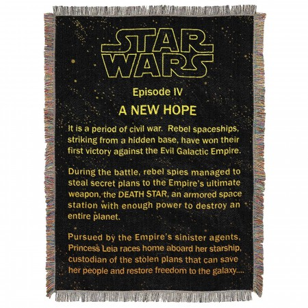 Star Wars Before Hope Tapestry Throw