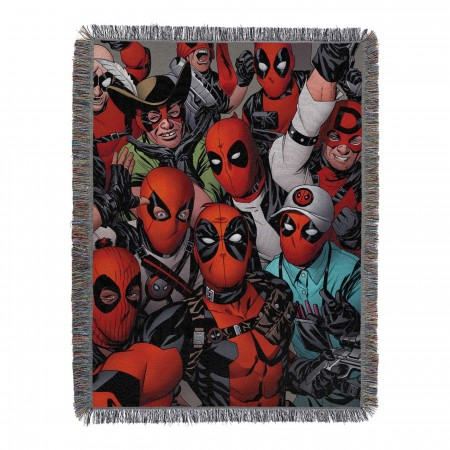 Deadpool We're All Here Tapestry Throw