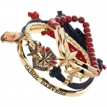 Captain Marvel Bracelet Set
